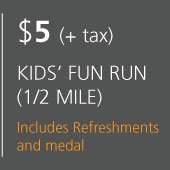 Cost of Kids Fun Run