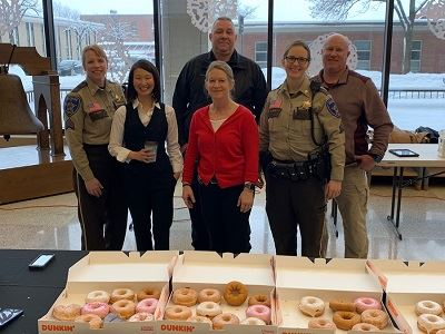 Group Photo of Polar Plunge Coffee and Donuts