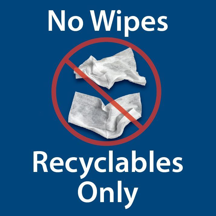 No wipes in recycling