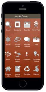 Anoka County's Mobile App can be downloaded for Android and Apple devices